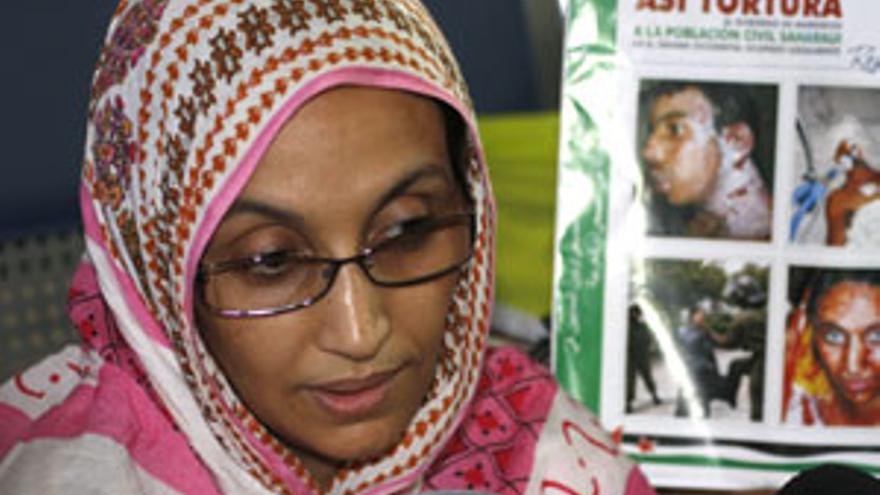 Aminatou Haidar sigue en huelga después de 6 días. (ACFI)