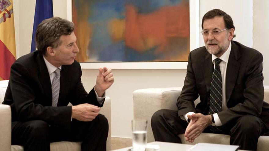 Mauricio Macri con el presidente Mariano Rajoy en La Moncloa.