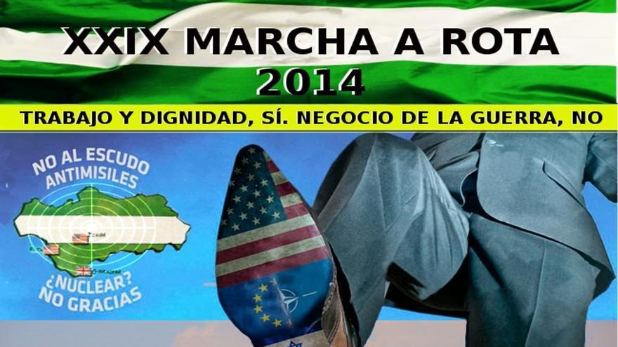 """La XXIX Marcha a Rota se celebra este domingo bajo el lema 'Trabajo y dignidad, sí. Negocio de la guerra, no"""""""