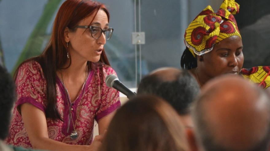 Helena Maleno, durante la presentación del informe 'Tras la frontera'.