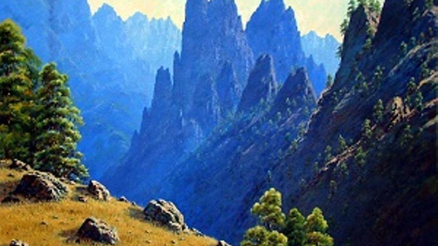 Uno de los cuadros de Francisco Concepción que se expone en la muestra.