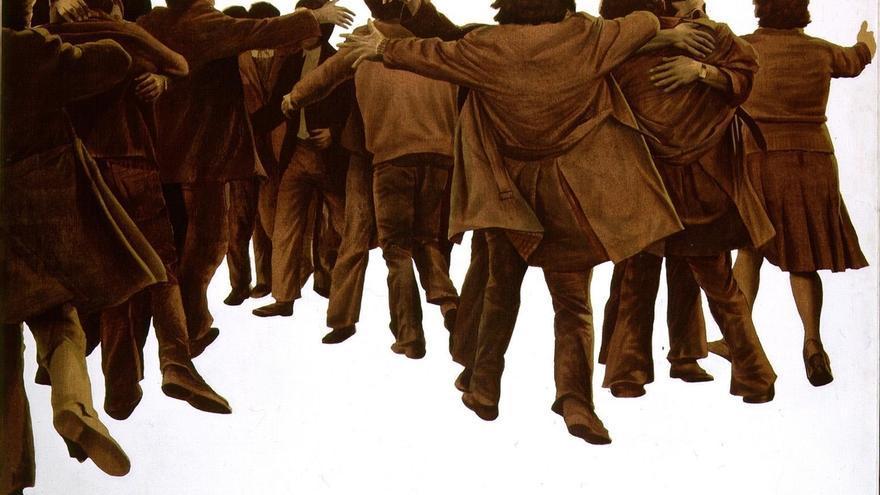El Congreso recibirá la próxima semana 'El abrazo' de Genovés, símbolo de la Transición
