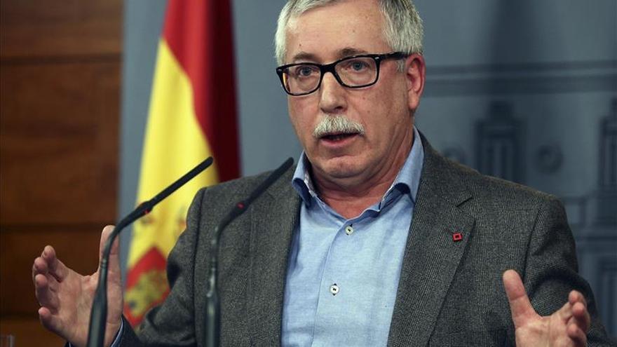 """Fernández Toxo cree que el debate catalán tiene bastante de """"burladero"""""""