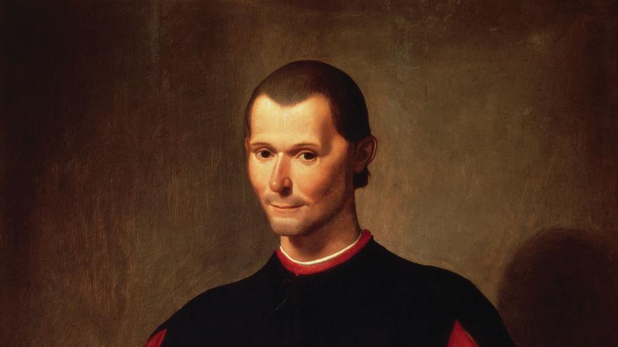 Retrato de Nicolás Maquiavelo por Santi di Tito