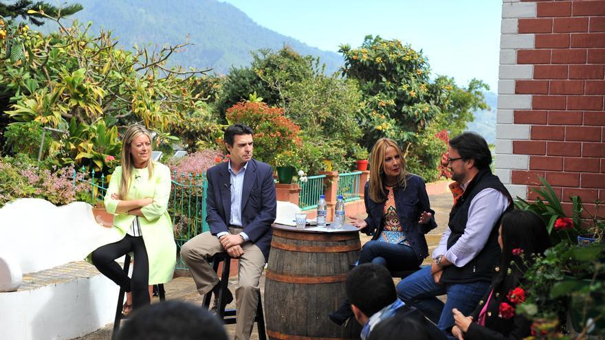 María de Haro, José Manuel Soria, María Australia Navarro y Asier Antona, este martes.