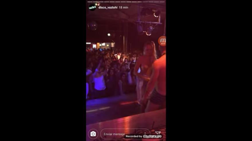 Imagen del vídeo difundido por la Discoteca Vazlohi