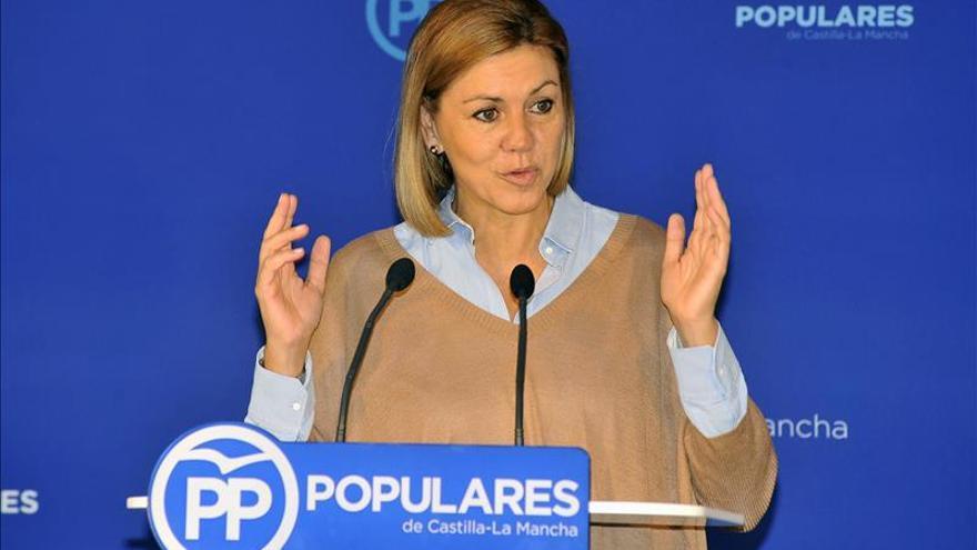 """Cospedal pide anteponer la """"razón de Estado"""" al interés electoral en Cataluña"""