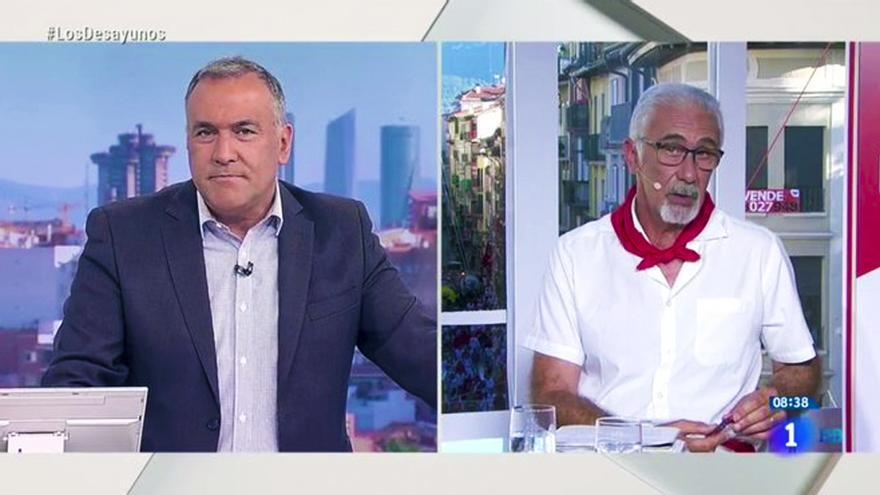 Xabier Fortes y Javier Solano en 'Los Desayunos de TVE'