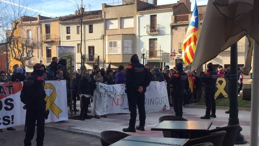 Protesta independentista contra Ciudadanos