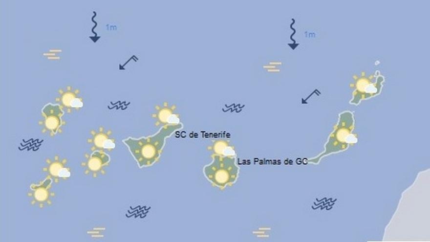 Tiempo en Canarias para el lunes 21 de agosto