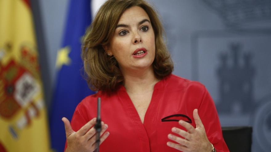 La vicepresidenta del Gobierno Soraya Saénz de Santamaría. \ EFE