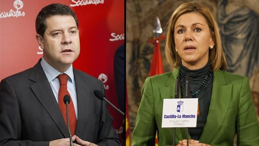 Emiliano García-Page y María Dolores de Cospedal / Foto: EUROPA PRESS