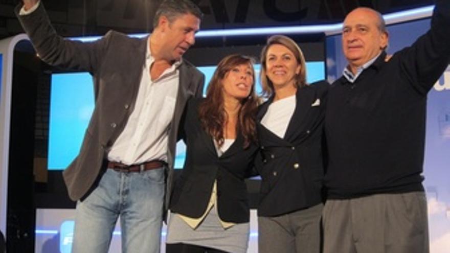 X.G.Albiol, A.S.Camacho, M.D.Cospedal Y J.Fdez.(PP)