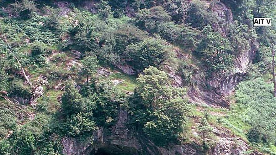 Hallado en Gipuzkoa un grabado rupestre paleolítico único en la península