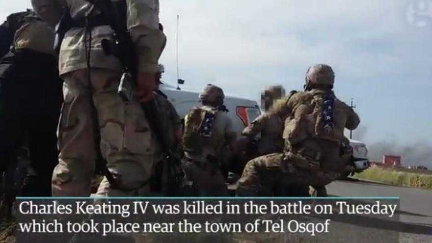 the Guardian consigue imágenes exclusivas de un tiroteo entre combatientes de ISIS, kurdos y estadounidenses