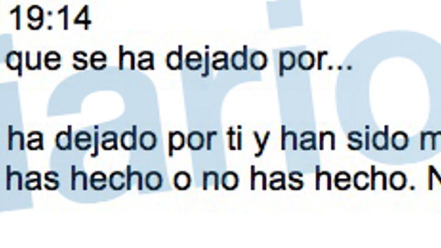 Mensaje de José María Aznar Botella, hijo del expresidente, a Miguel Blesa