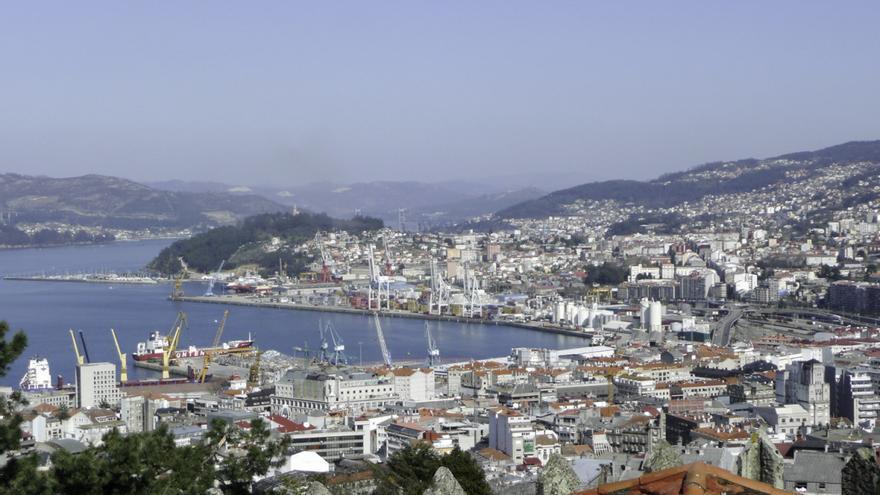 Vista general del barrio de Teis, en Vigo