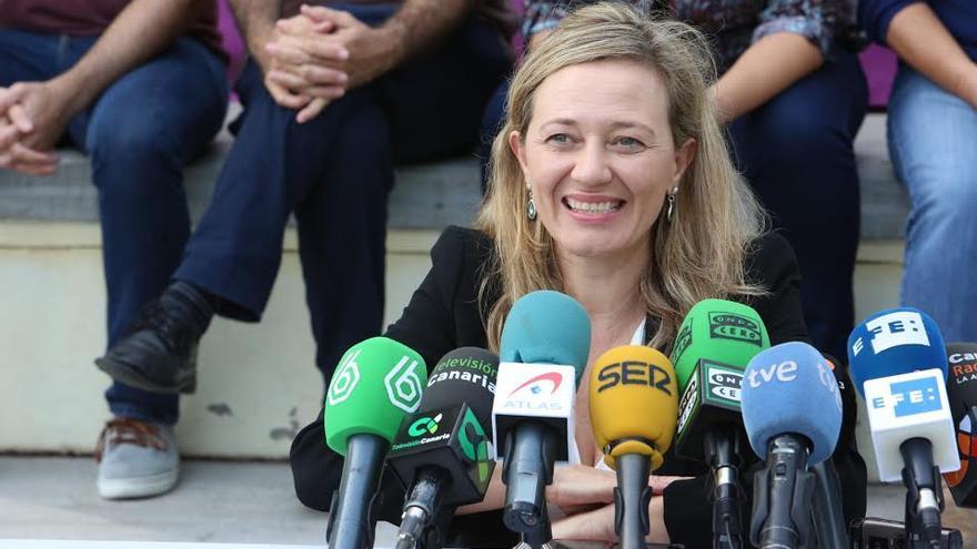 Victoria Rosell, en la rueda de prensa ofrecida este miércoles. (ALEJANDRO RAMOS)