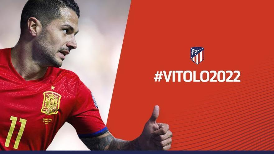 El Atlético de Madrid anuncio en redes sociales la contratación de Vitolo.