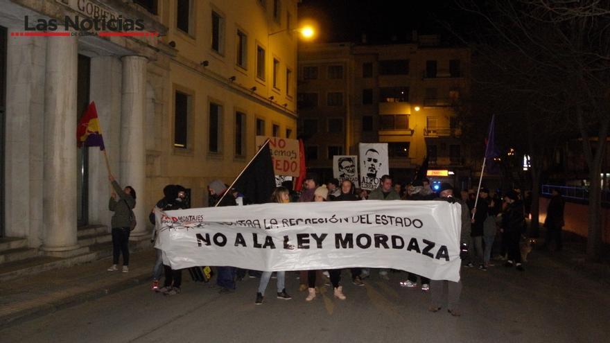 Marcha contra la Ley mordaza, Cuenca / Foto: G. D. ; Las Noticias de Cuenca