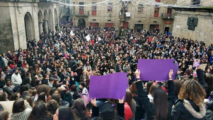 Final de la manifestación del 25N en Santiago