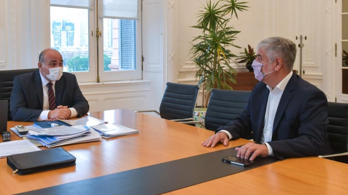 Feletti se reunió este martes en la Casa Rosada con el jefe de Gabinete, Juan Manzur