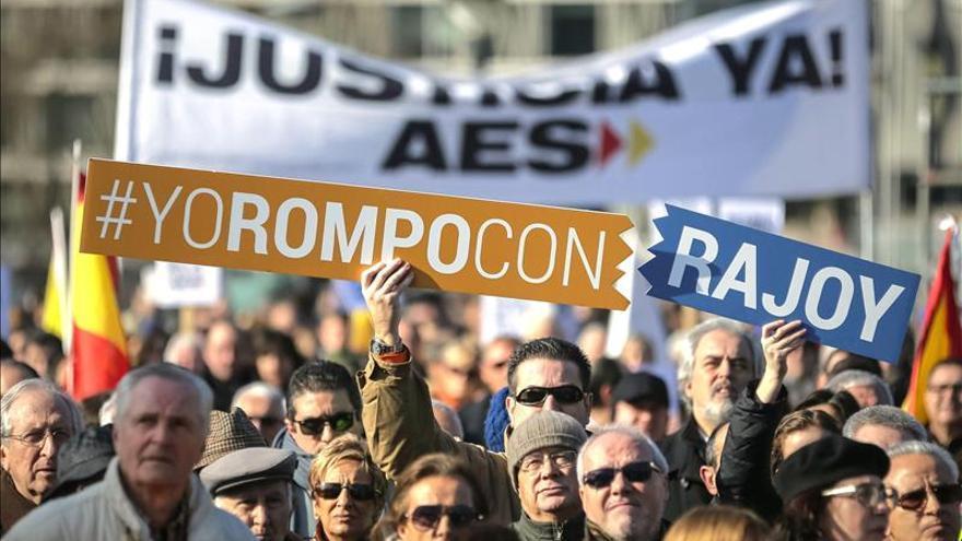 Manifestación convocada por la Asociación de Víctimas del Terrorismo en Madrid (24 de enero de 2014). \ Efe