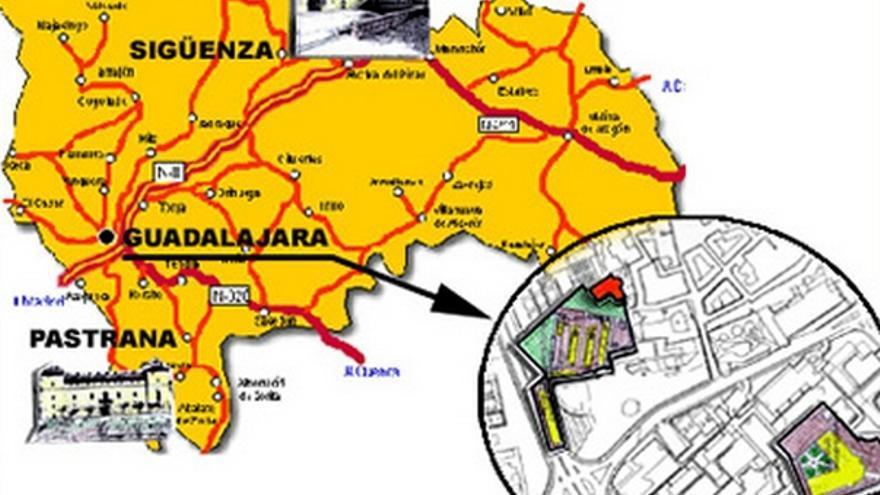 Mapa del Campus de Guadalajara / Foto: Universidad de Alcalá