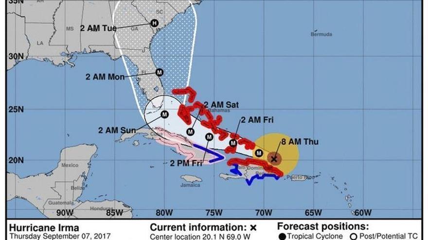 El sur de Florida, bajo vigilancia de huracán por la amenaza de Irma