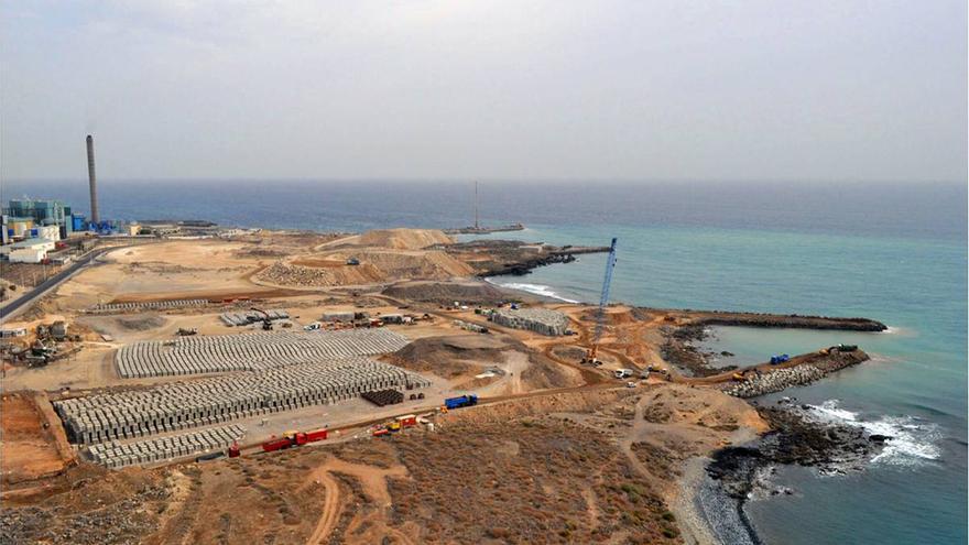 Imagen aérea del polígono industrial de Granadilla.