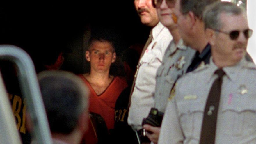 Timothy McVeigh dos días después del atentado en Oklahoma.