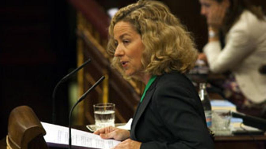 Ana Oramas, este martes durante su exposición en el Congreso de los Diputados. (ACFI PRESS)