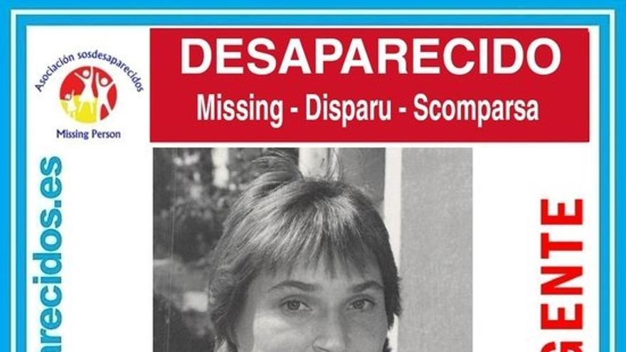 Cartel alertando de la desaparición de María Carmen Becerra Rodríguez