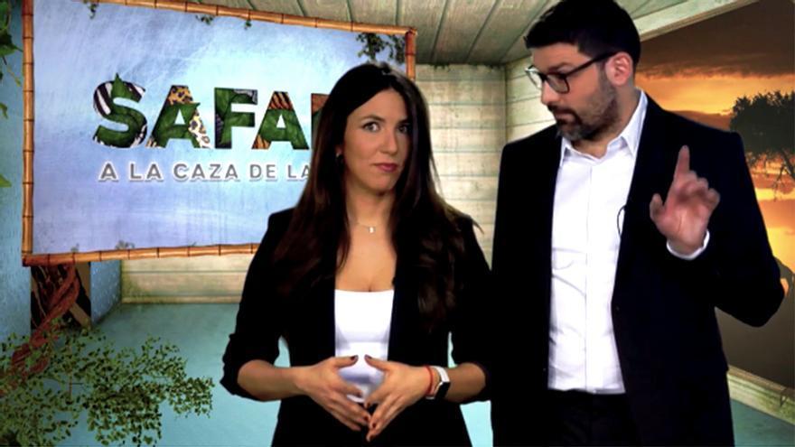 """Irene Junquera y Nacho García en """"Safari. A la caza de la tele"""""""