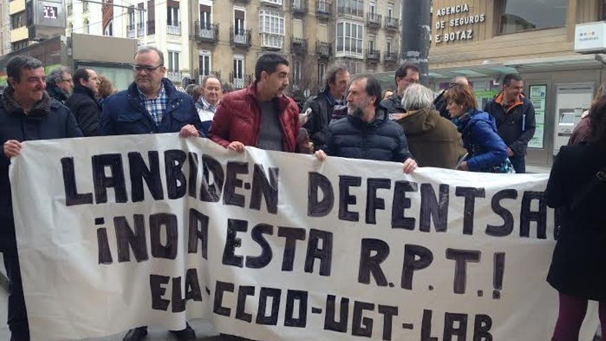La huelga está convocada por los cuatro sindicatos ELA, LAB, CCOO y UGT.