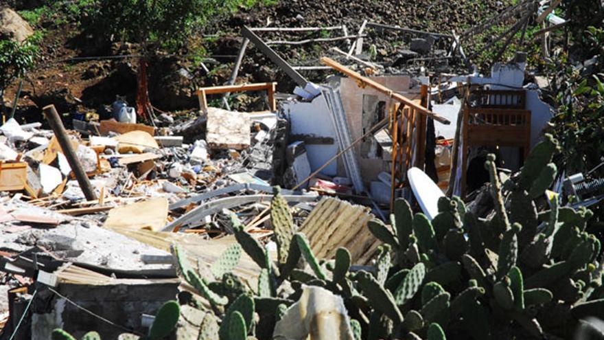 Imagen del estado en que quedó la vivienda tras la explosión. (ACFI PRESS)