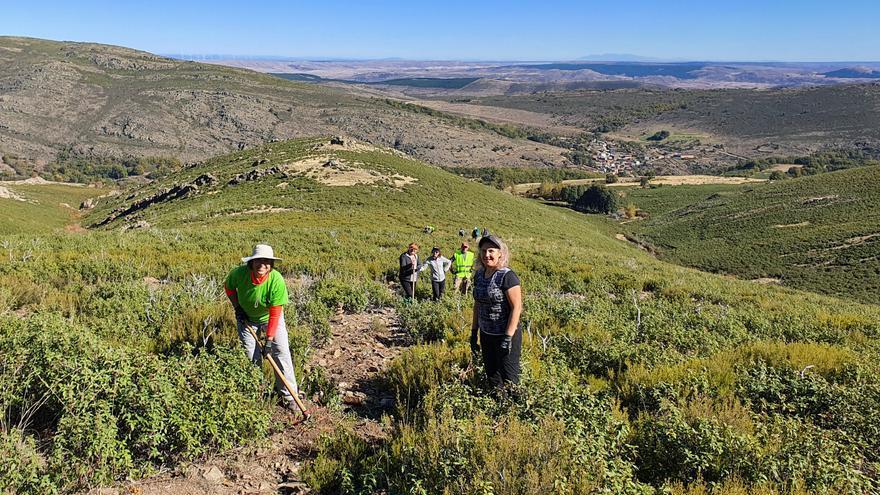 Senderismo para la recuperación de terrenos naturales en la Sierra Norte de Guadalajara