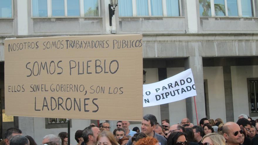 Protesta de funcionarios. EUROPA PRESS