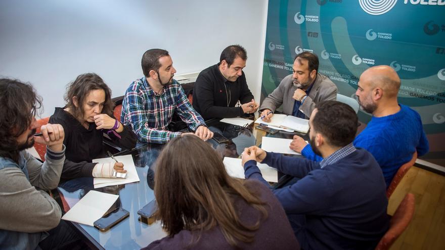 Reunión entre IU, Podemos y Ganemos Toledo / Ganemos Toledo