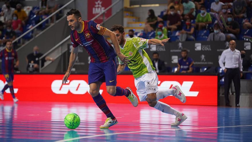 Rafa López, en una acción de la eliminatoria ante el Barça de semis