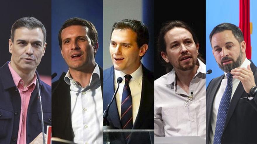 Líderes de los principales partidos políticos candidatos en las Elecciones Generales de 2019