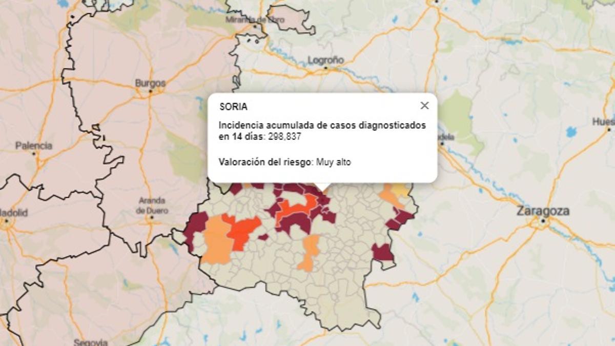 La provincia y la ciudad de Soria, la que peores datos presenta en Castilla y León.