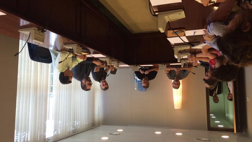 Los afectados por los terremotos de Lorca han visitado la Asamblea Regional