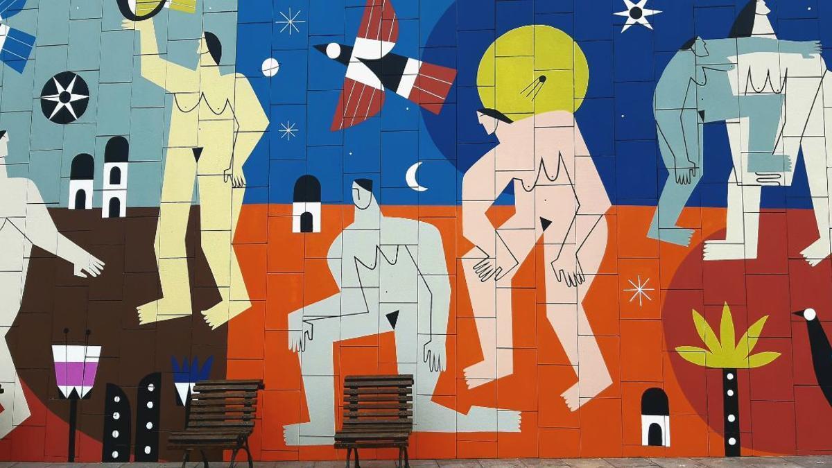 Mural que homenajea a las supervivientes de violencia machista en Bilbao