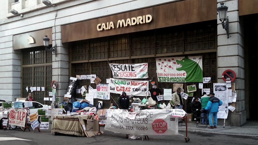 Pza.Celenque - Protesta Bankia Acampada PAH General