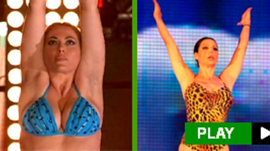 La 'sirena' Daniela Blume y los saltos 'a lo palo' de Toñi y Falete, en la primera gala de 'Splash!'