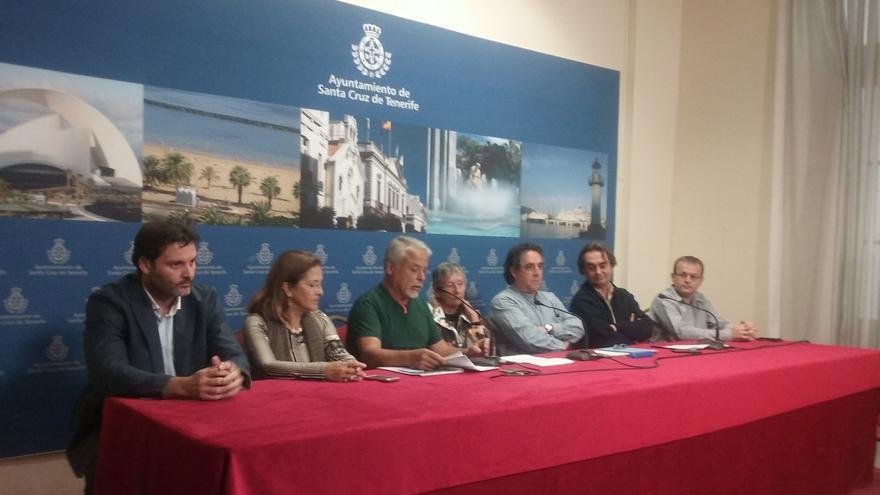 Rueda de prensa de los grupos de la oposición en el Ayuntamiento de Santa Cruz de Tenerife, a excepción de Ciudadanos