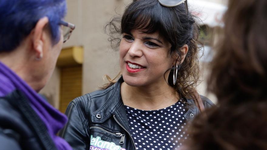 Teresa Rodríguez, candidata de Adelante Andalucía.