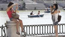 Imagen de dos turistas.