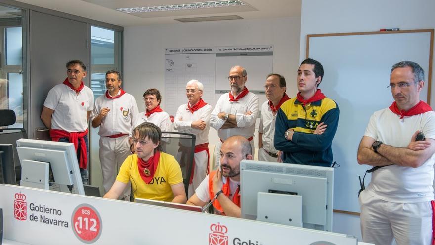 Beaumont y Domínguez siguen en SOS Navarra el trabajo del dispositivo asistencial del encierro